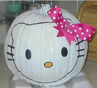 Funny pumpkin painted design ideas crafts and arts ideas for Pumpkin kitty designs