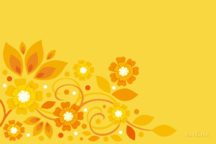 Classic Floral Vector Art Backgrounds Yellow And Purple Color Respectively In A High Resolution 1200x800