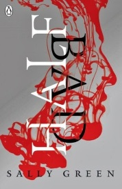 Cover of Half Bad, featuring swirls of red liquid that form the silhouette of a boy's face against a grey background.