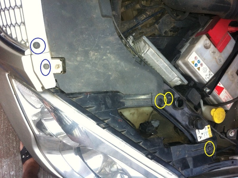 how to change a light in ford 2012