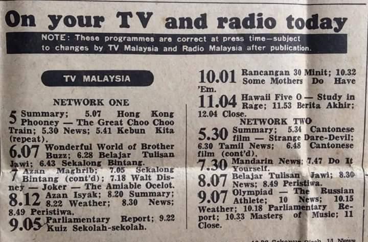 Intisari Rancangan Televisyen Tahun 1976