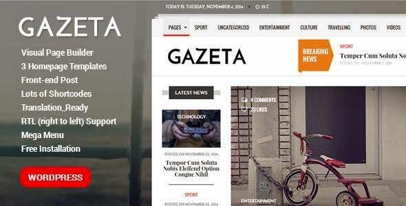 Gazeta - Powerful WordPress Magazine Theme