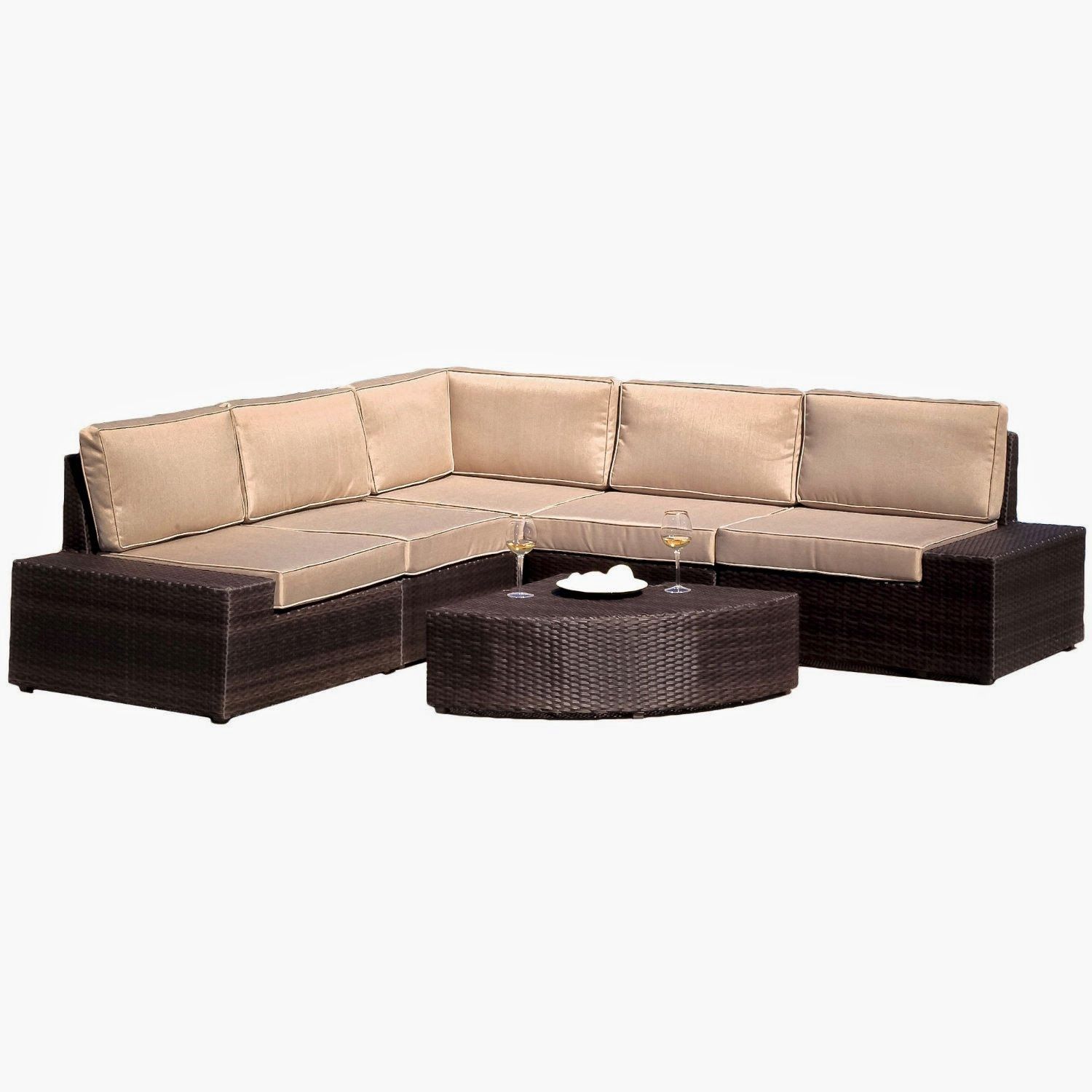 Best selling say brook pe wicker sofa set outdoor patio for Best sofa sets