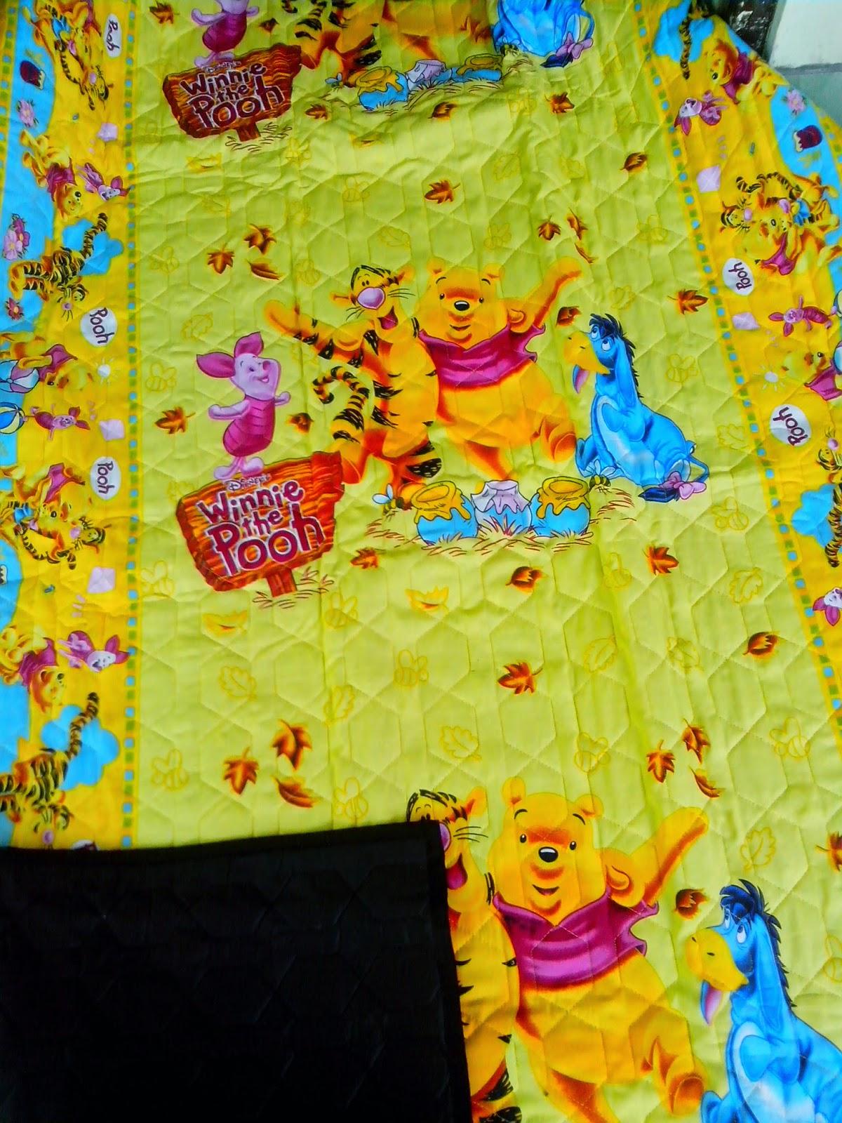 tikar dakron motif winni the pooh kuning