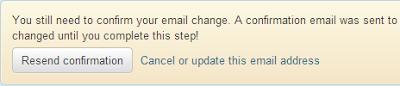 Konfirmasi Setting Akun Email Twitter