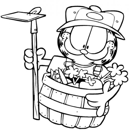 Fun Coloring Pages Garfield Coloring Pages
