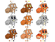 Cartoon character designs