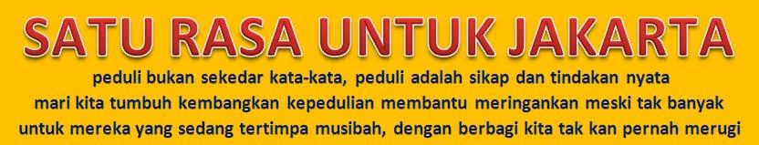 SATU RASA UNTUK JAKARTA