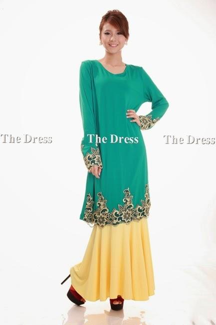 Gedung Fesyen: Baju Kurung Color Block Code :#S7307-9