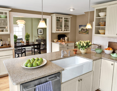 Beautiful Inexpensive Kitchen Remodeling Idea With Simple Design. Kitchen To Dining  Room