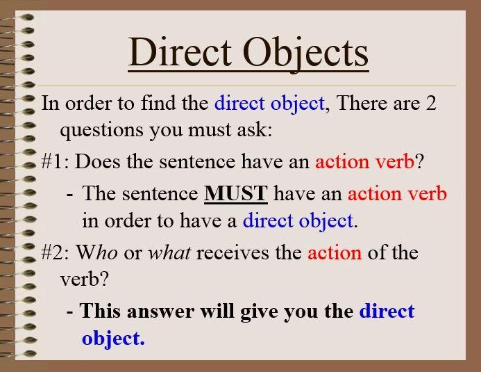 GWA Fourth Grade Blog Grammar Direct and Indirect Objects – Direct and Indirect Objects Worksheets