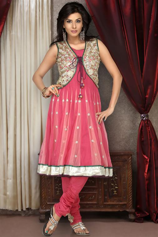 Pakistani anarkali frock designs.