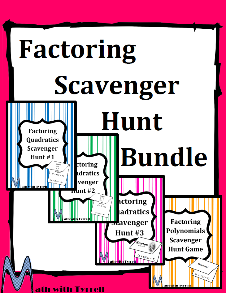 https://www.teacherspayteachers.com/Product/Factoring-Scavenger-Hunt-Bundle-1561827