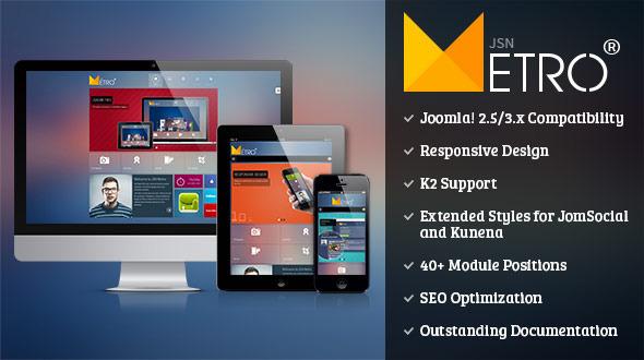 JSN Metro v2.0.8 – Responsive Joomla Template