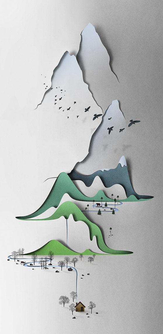 paisaje vertical de papel de Eiko Ojala