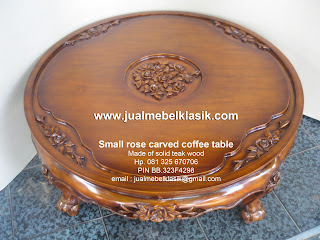 Jual furniture jati mebel jati ukir jepara meja kopi ukir jepara meja ukir bunga mawar