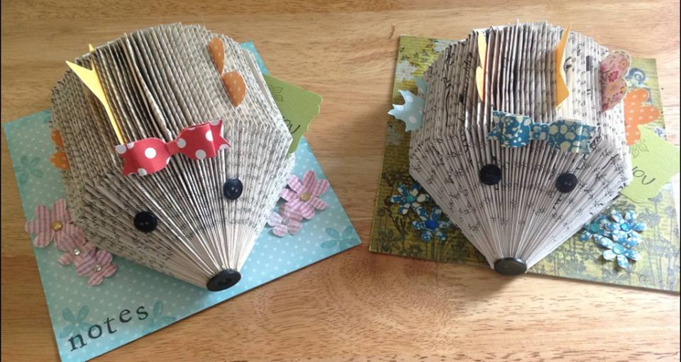 How To Make A Book Hedgehog : A stamping chirping corner almost summer holidays