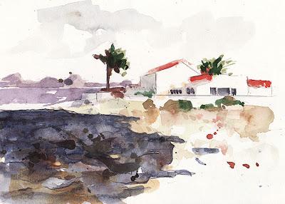 Corralejo, Fuerteventura, aquarelle