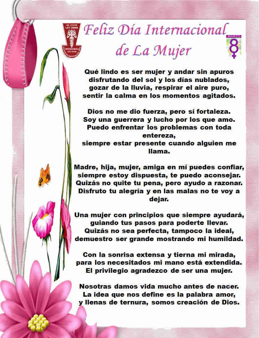 fraces dia d mujer: