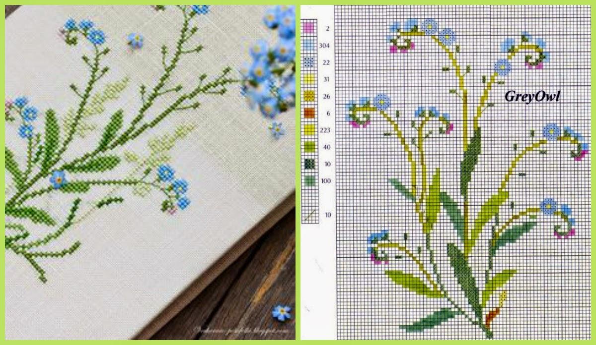 Вышивка полевых цветов 8