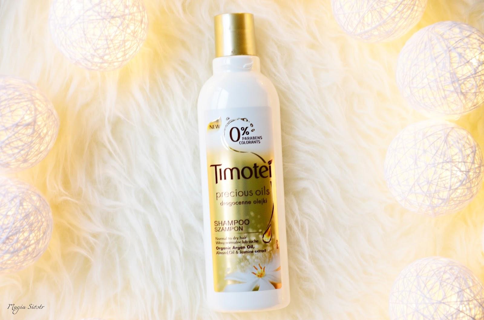kosmetyki do włosów Timotei, Drogocenne Olejki, naturalne olejki do włosów, szampon do włosów