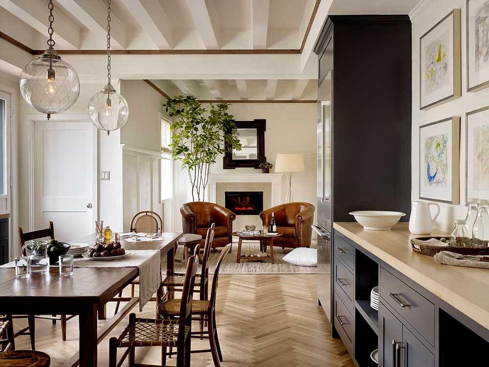 Cozy grey kitchen - Kitchen and dining interior design ...