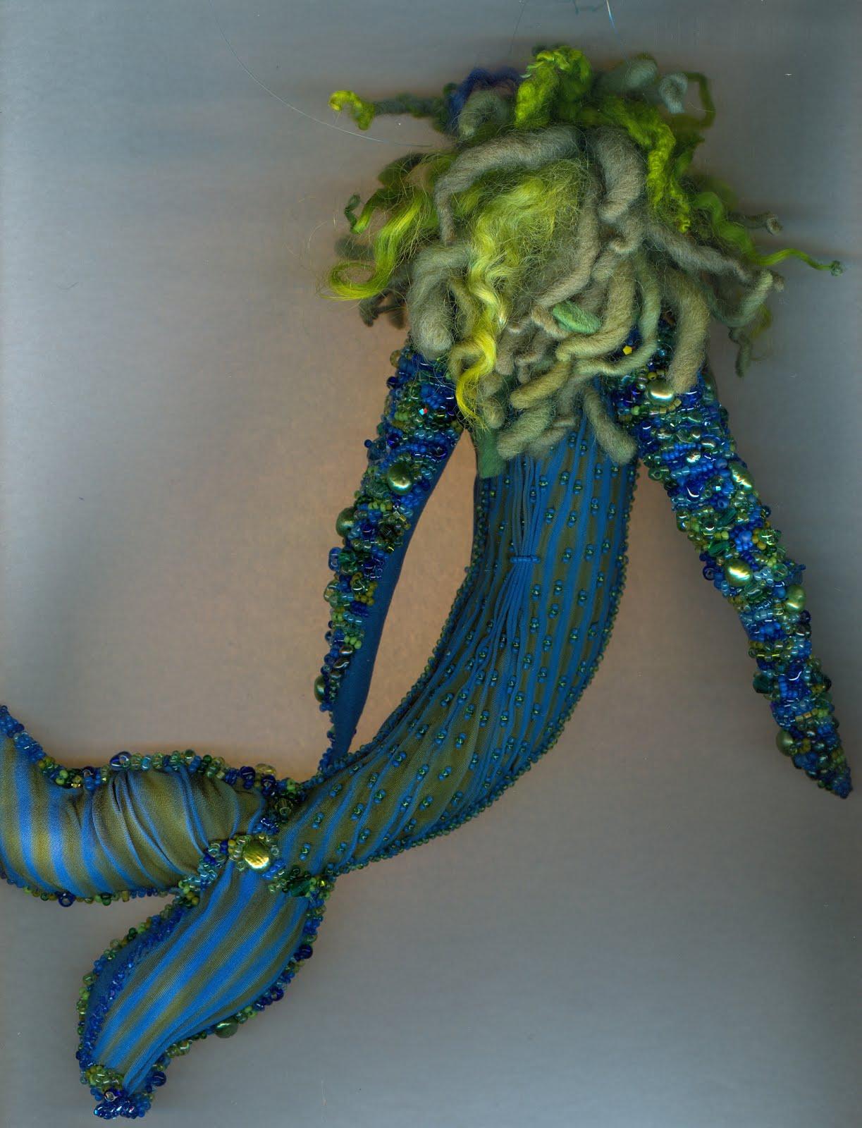 2018 blue green mermaid back view