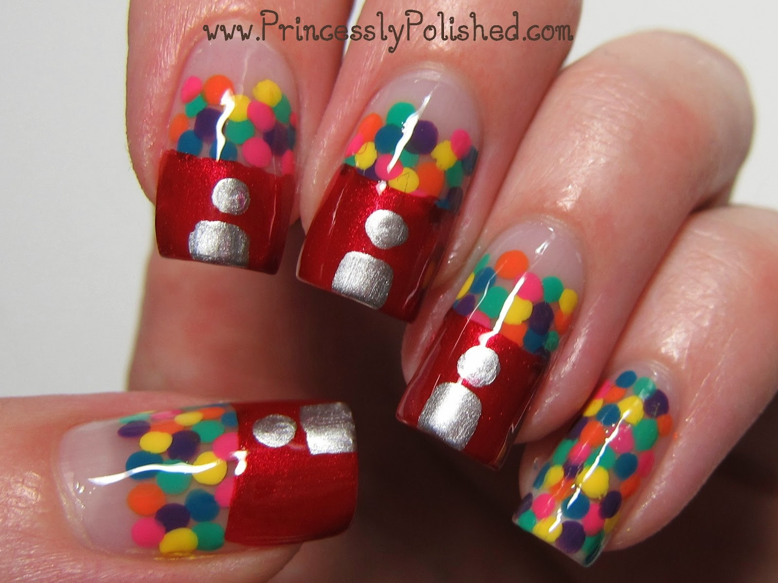 Princessly Polished: Tutorial: Gumball Machine Nail Art