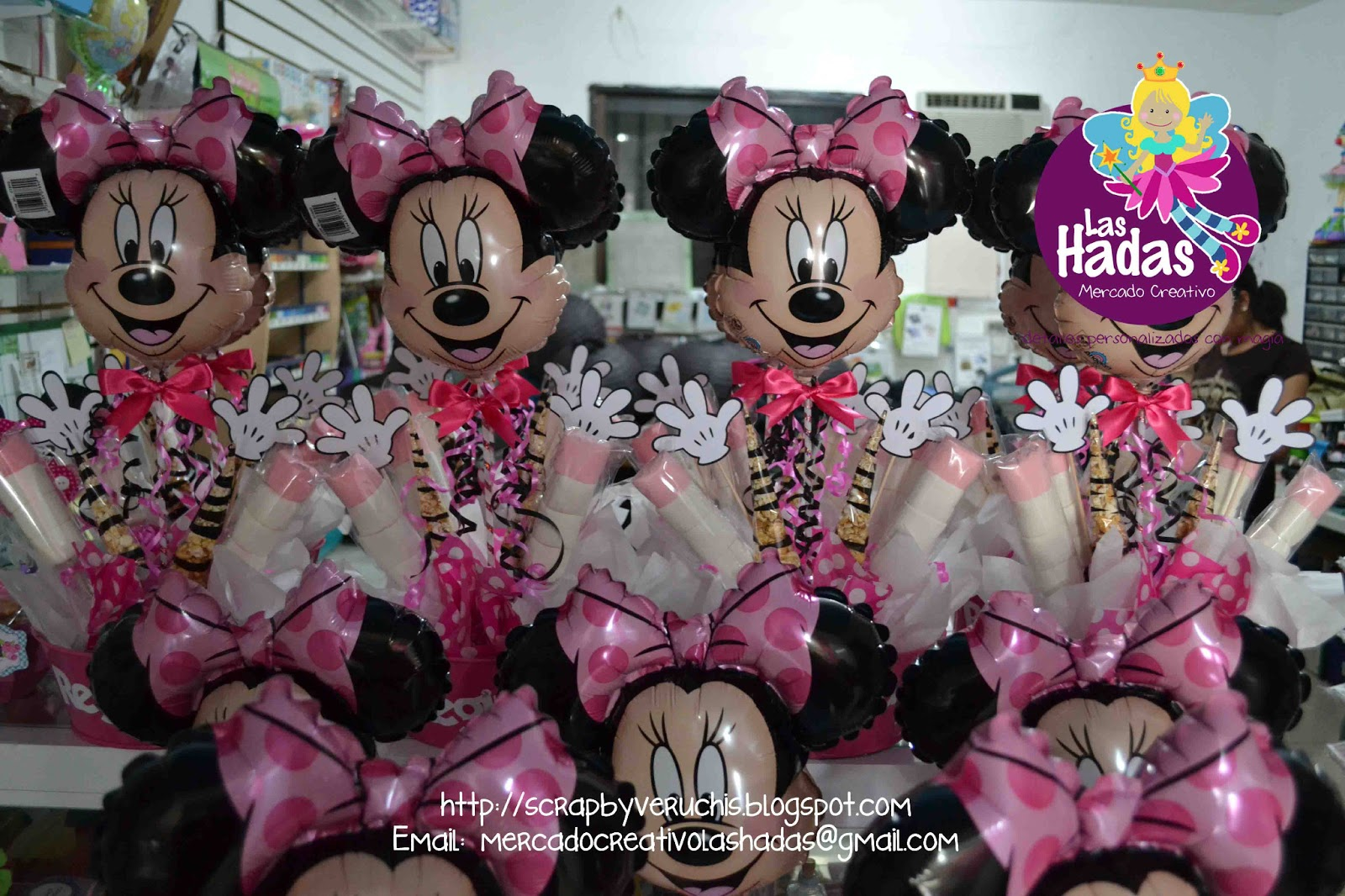 Centros de Mesa Globo Minnie Mouse