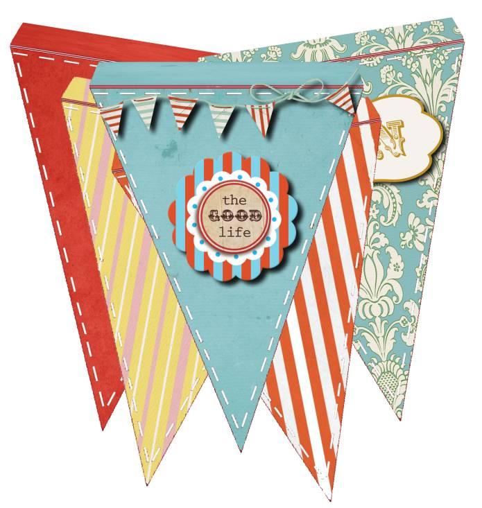 Free Cheery Pennant Banner Flag Printable