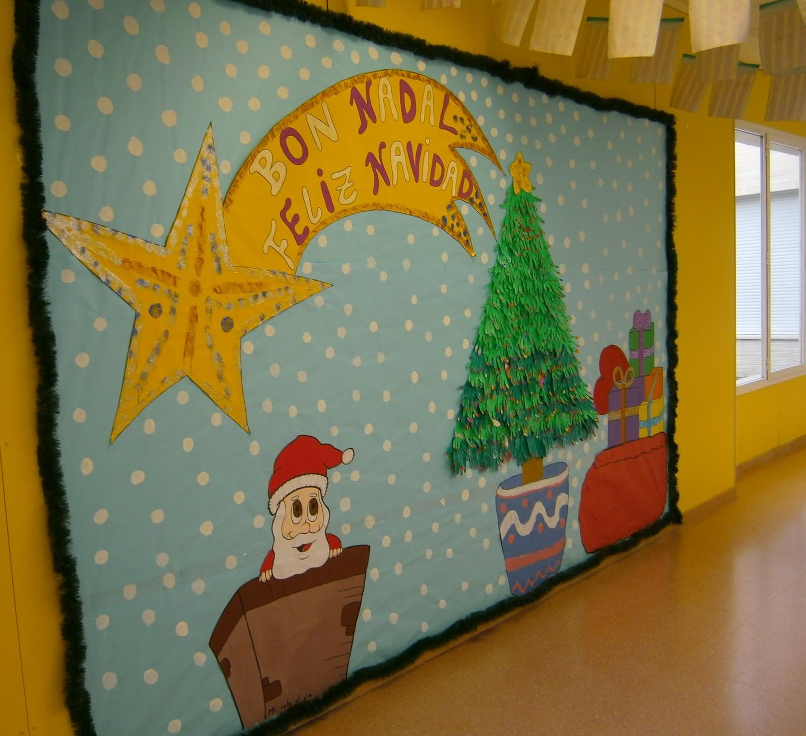 Ya llega la navidad mi rcoles realizaci n de un mural - Mural navidad infantil ...