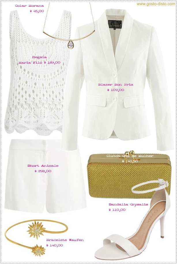 O que vestir no réveillon - Looks total white