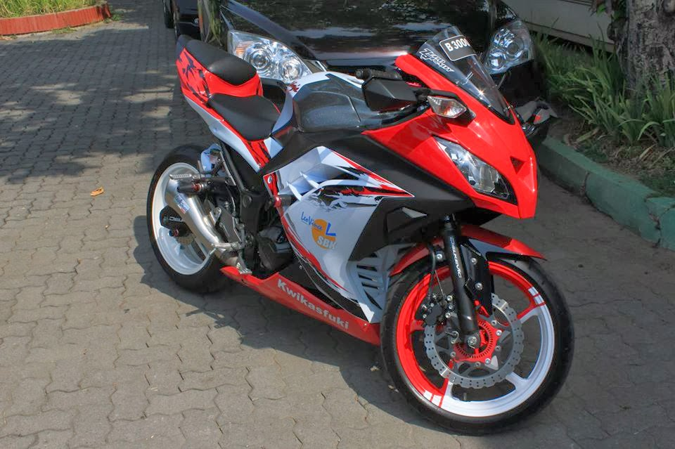 modifikasi motor ninja 250 fi