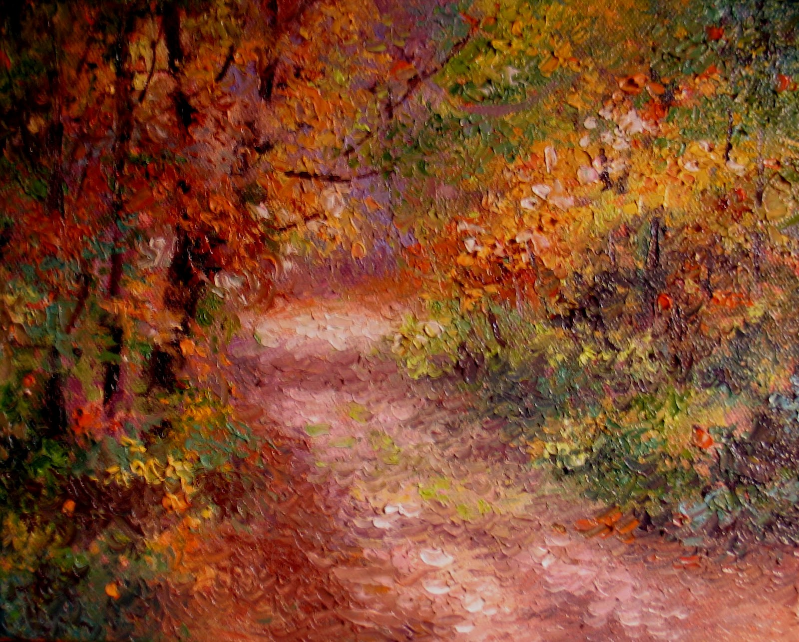Nel's Everyday Painting: Fall Impression - SOLD