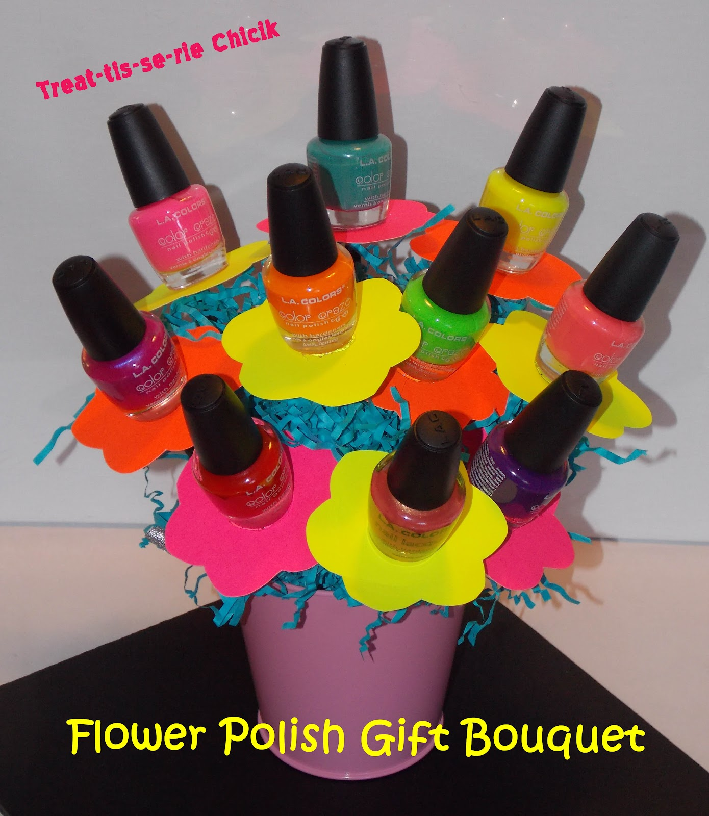 Treat tis se rie chick flower polish bouquet this is one of my most visited posts on any blog ive created flower polish gift bouquet izmirmasajfo
