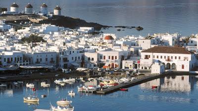 Puerto de mykonos, islas griegas