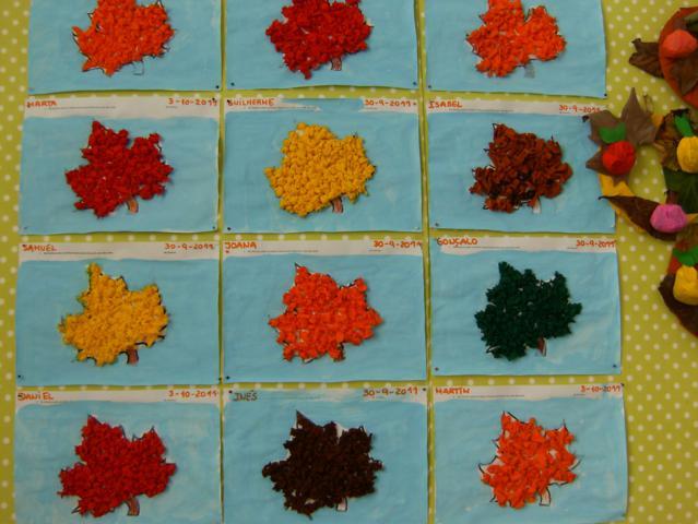 """ideias para o outono jardim de infancia:Os meninos de 5 anos fizeram o Livro: """"Vamos Contar o Outono!"""""""