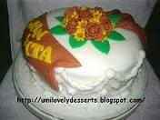 Fondant Icing Cake For Hantaran