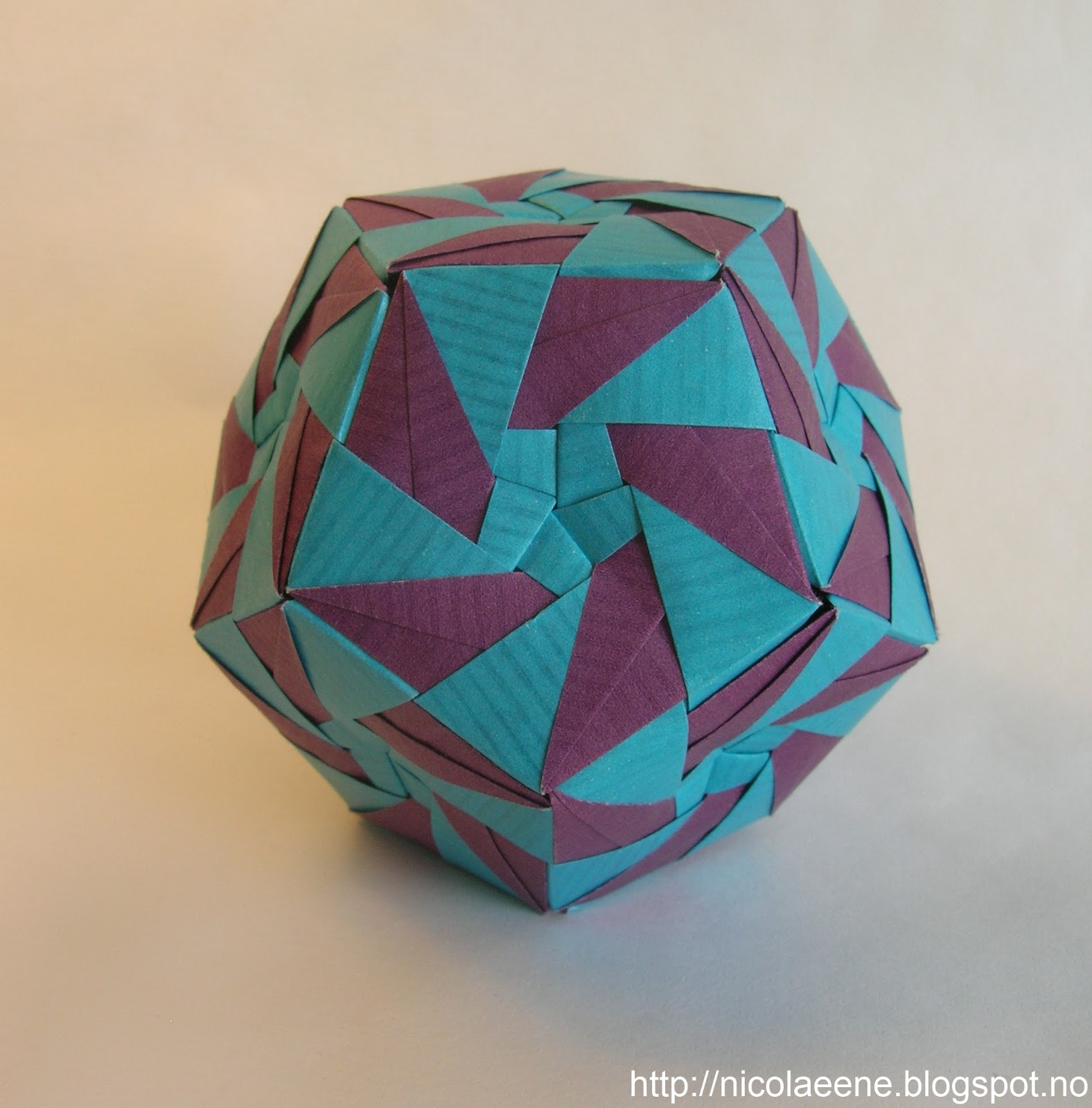 Dodecahedron Origami The Worlds Newest Photos Of And Nut Simple Kusudama Download