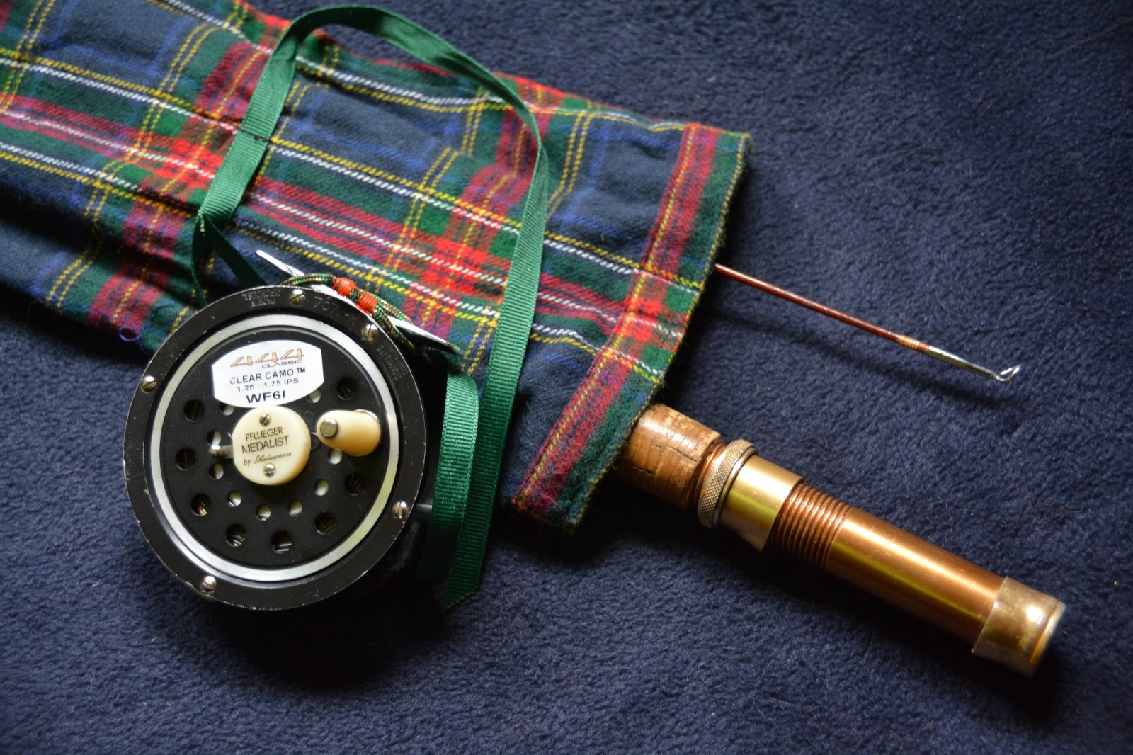 Electric journal fly fishing diaries making a plaid for Fishing rod socks