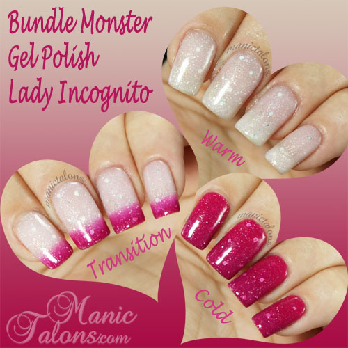 Bundle Monster Thermal Gel Polish Lady Incognito Swatch