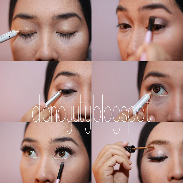 Step by step makeup for green eyes