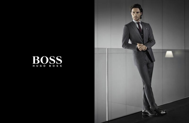 Fashion week Spring boss ad campaign for lady