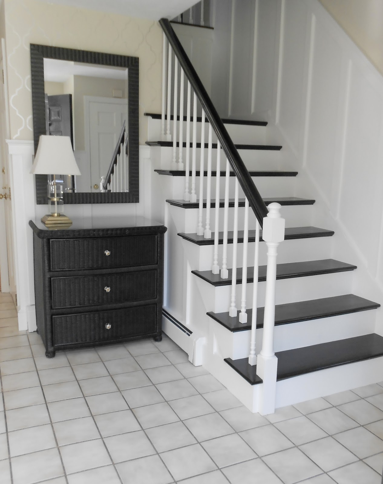 Stairs And Foyer : Foyer board batten shine your light