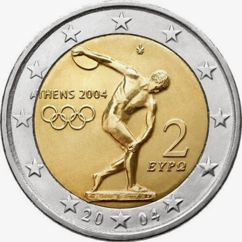 2 euro commemorative coins Greece 2004 Olympics Games