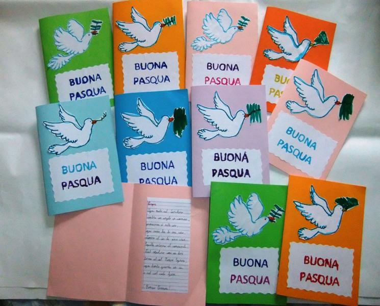 Studiamando Liberamente Biglietti Di Pasqua Con Colomba E Poesia