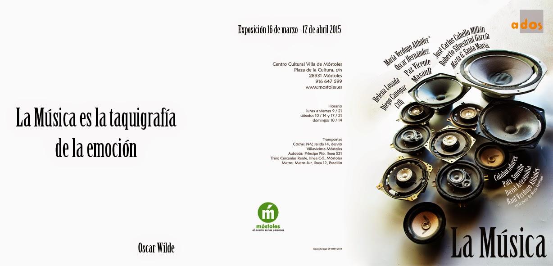la musica-dos-exposición colectiva-MasauR-centro cultural villa de mostoles