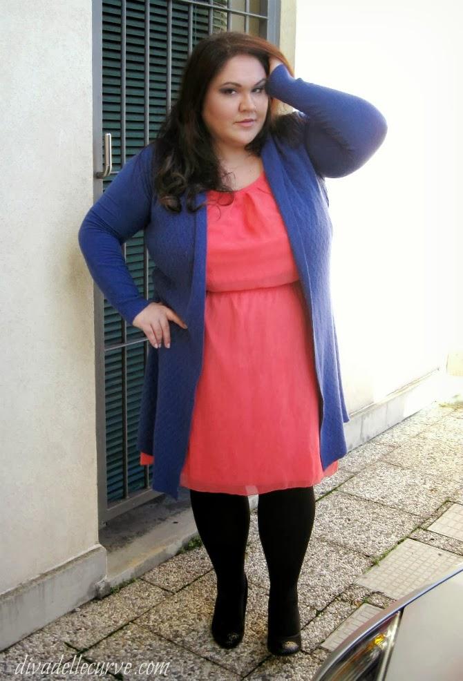 outfit plus size con abito axparis