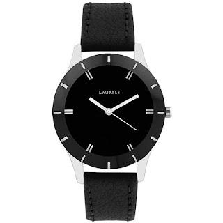 Laurels Black Dial Women's Watch