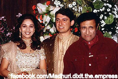 Madhuri Dixit with Husband and Dev Anend Late